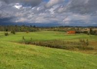 Landscape before storm