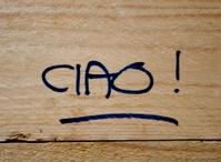 Ciao written on wood