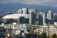 Vancouver Skyline With BC Place And Rogers Arena