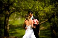 Pink Praying Christian Intimate Bride and Groom Wedding Dress