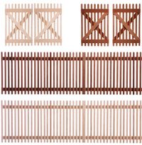 fence with clipping path