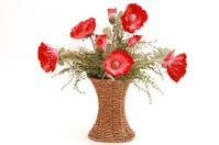Red Poppies Flower Arrangement