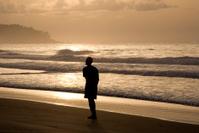 Man on Busua Beach