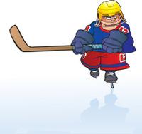 determined ice hockey boy