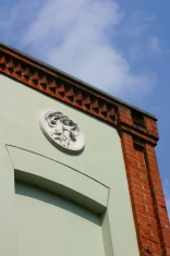 Corner of historic house
