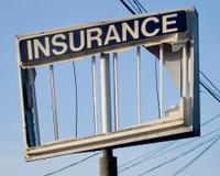 Broken Insurance Sign