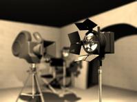 Studio Lamp in film set