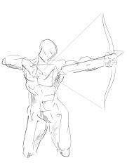 Human Figure Study: Archer