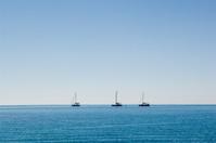 Catamarans off the Coast