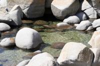 White rocks on the shore