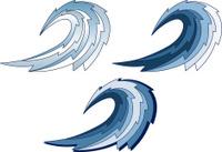 wave handmade Emblem