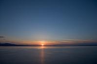 Sun down on the coast