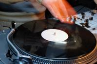 DJ's hand