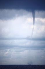 Tornado and storm clouds