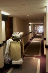 Housekeeping hotel corridor