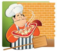 Brick-oven pizza chef