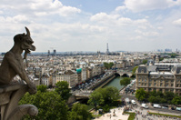 Eiffel tower from the Notre Dame