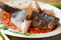 delicious whole steamed fish