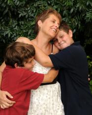 Joyful family moment