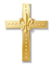 Cross Fleur Di Lis