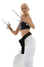 Martial arts sai form