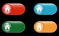 Glossy Home Symbol Icon Button Set