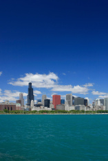 Chicago Skyline and Sears Tower as Viewed From Lake Michigan