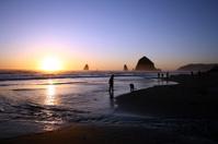Cannon Beach Sunset Spires