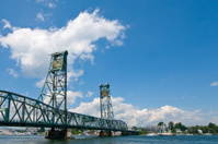 Drawbridge over the Piscataqua River, between Portsmouth and Kit