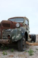 Old rusty dodge pickup