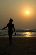 rasta man in beach