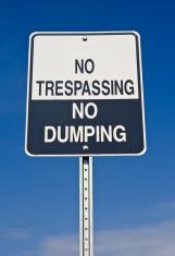 No Trespassing, dumping