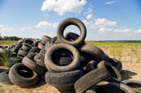Tyre heap.