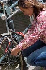 locking my bike