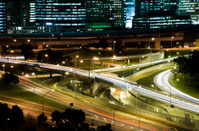 City commute at night