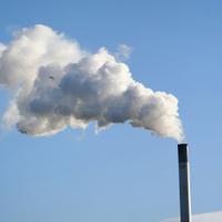 chimney billowing smoke