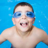 Smiling Little Swimmer