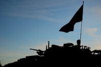 Armored vehicle silhouette