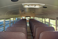 Interior of School Bus