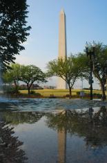 Washington Monument in reflection