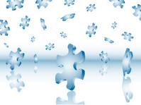 Falling puzzle pieces