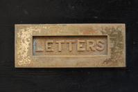 Black door mailbox