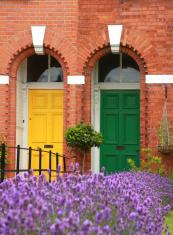 lavender and Dublin doors