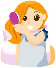 Cartoon Man Combing Hair stock photos - FreeImages.com