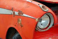 Old orange car I