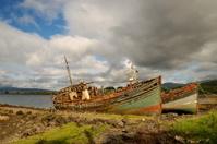 Boat wrecks on Isle of Mull