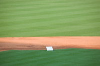 second base on a baseball field