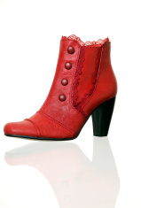 Red overshoe
