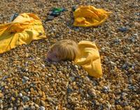 Pebble beach burial