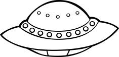 UFO Line Art